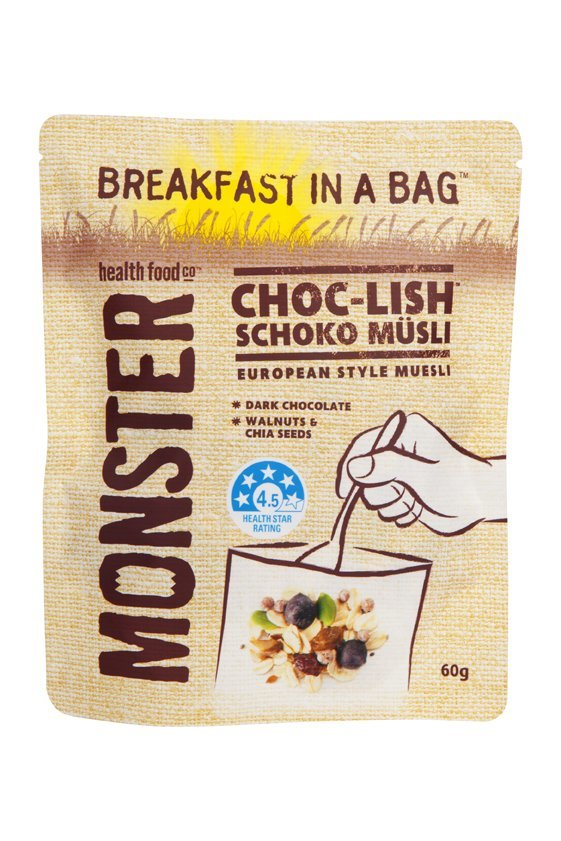10 x 60g - Breakfast in a Bag Choc-Lish