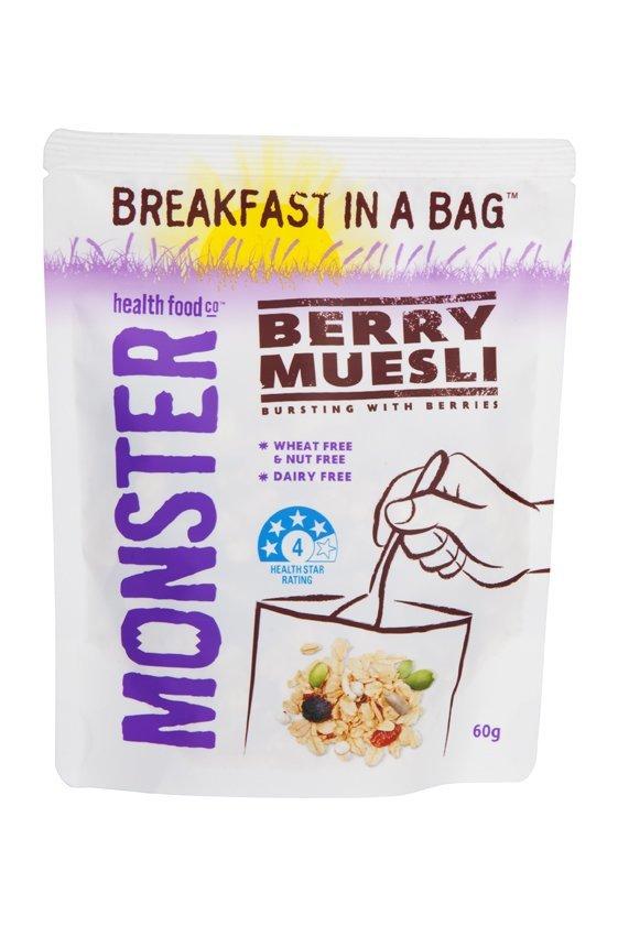 10 x 60g - Breakfast in a Bag Berry Muesli