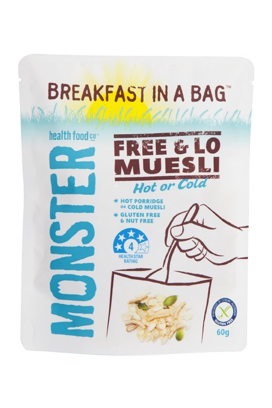 10 x 60g - Breakfast in a Bag Free & Lo Gluten Free Muesli