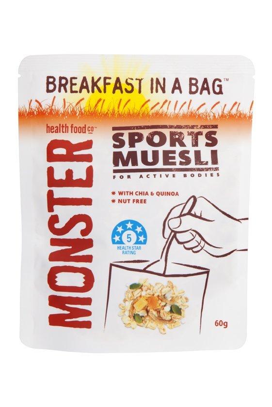 10 x 60g - Muesli - Sports - Breakfast in a Bag
