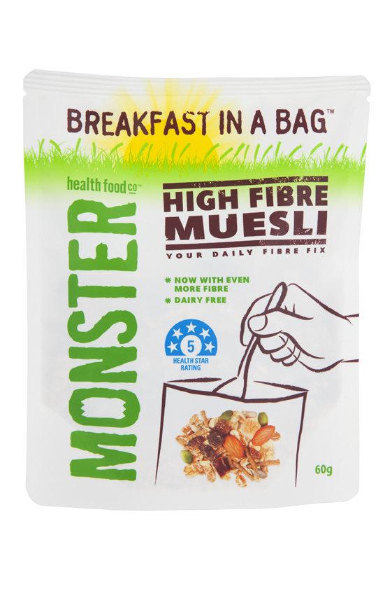 10 x 60g - Breakfast in a Bag High Fibre muesli