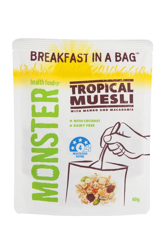 10 x 60g - Breakfast in a Bag Tropical Muesli