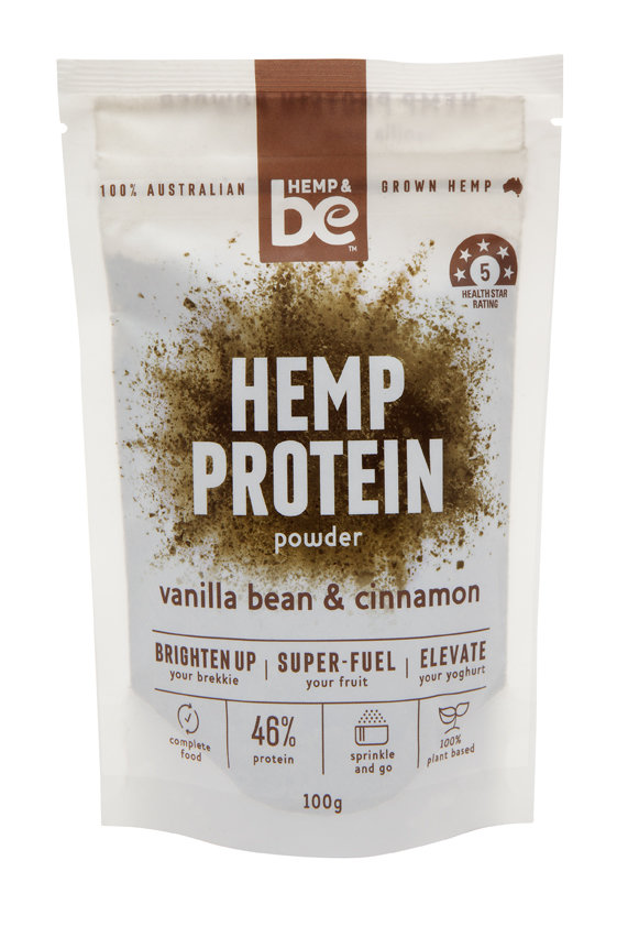 Hemp Protein Powder - Vanilla Bean & Cinnamon - 100g - HEMP & be