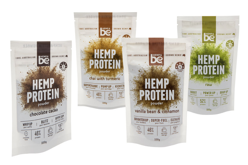 """Hempters"" Protein Pack - All of HEMP & be Protein Powders - 4 x 100g"