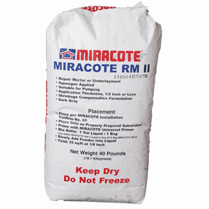 Repair Mortar RM 2 Gray Powder 40 LB Bag