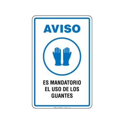 Rótulo Aviso - USO DE GUANTES