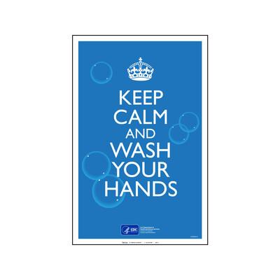 CDC - KEEP CALM & WASH YOUR HANDS (INGLÉS)