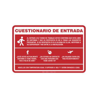 Rótulo - CUESTIONARIO DE ENTRADA