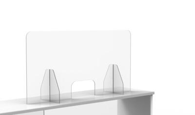 "Countertop Protective Shields 48""W x 23.5""H Acrylic 3/16"