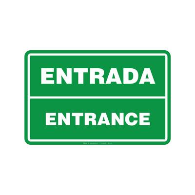 Rótulo - ENTRADA/ENTRANCE (BILINGÜE)