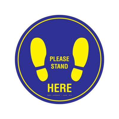 GRAFICO DE PISO - PLEASE STAND HERE (USO IDEAL PARA ELEVADORES)