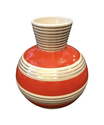 Art Deco Italian Ceramic Vase by Rometti, circa 1930