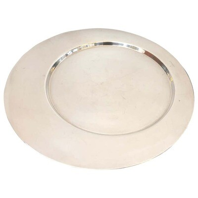 Gio Ponti for Cleto Munari Silver Plated Round Tray, circa 1970