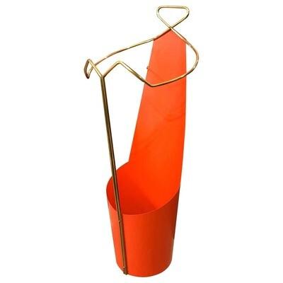 Mid-Century Modern Brass Italian Umbrella Stand, circa 1950