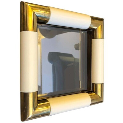 Tommaso Barbi Mid-Century Modern Brass and Glass Vide Poche, circa 1970