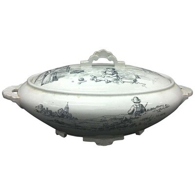 19th Century Rare Victorian Ceramic Soup Tureen