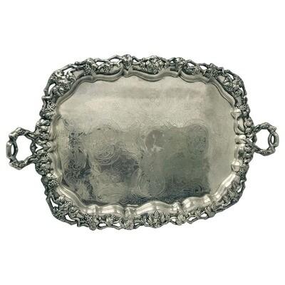 Georgian Old Sheffield Plate rectangular French Tray  1820