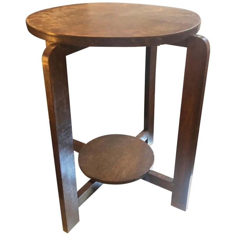 Art Deco Oak Dutch Side Table, circa 1930