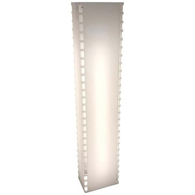 Space Age Rectangular White Plexiglass Italian Floor Lamp, circa 1970
