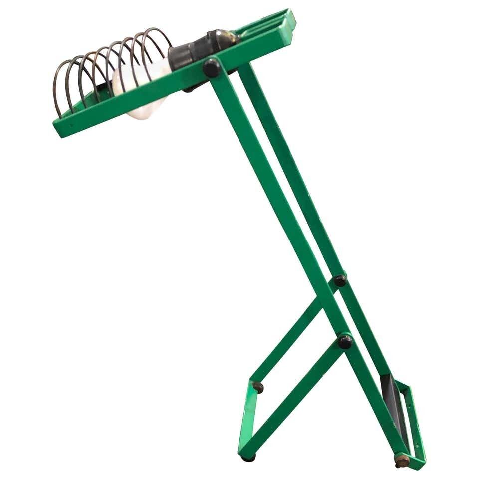 Ernesto Gismondi for Artemide Green Adjustable Table Lamp, 1976