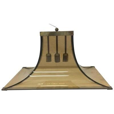 Fontana Arte Brass and Glass Mid-Century Modern Italian Pendant