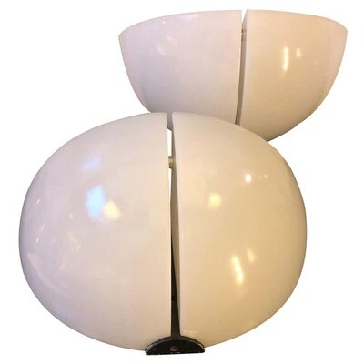 Stilnovo Set of Two Space Age White Wall Sconces, circa 1970
