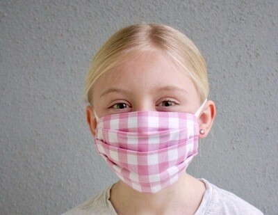 """""""Thrive"""" children's multi-ply washable cotton Deaconess Mask"""