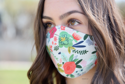 """""""Thrive"""" multi-ply washable cotton Olson mask with filter pocket"""