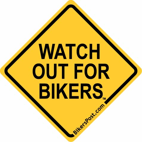 WATCH OUT FOR BIKERS® Bumper Sticker