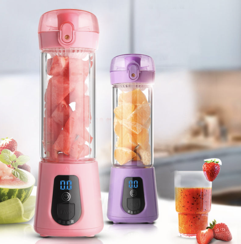 Portable Glass Smoothie Blender USB Rechargeable battery FDA BPA Free