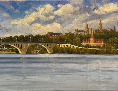 """View of Georgetown from the Watergate"""