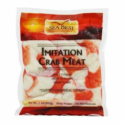 Case of 30 x 1 Lb Packs of Golden Sun Crab Flakes Imitation