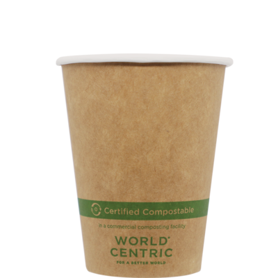 Case of 1000 Units or Pack of 50 Units of Kraft Paper Cup Hot 8 oz