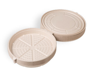 Case of 100 Units or Pack of 25 Units of Fiber Take Out Pizza Boxes 12