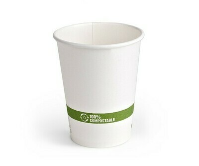 Case of 1000 White Paper Hot Cups 8 oz