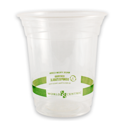 Case of 1000 Units or Pack of 50 Units of Clear Cups 12 oz