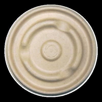 Case of 500 Unbleached Lids for 8 oz - 16 oz Soup Bowls