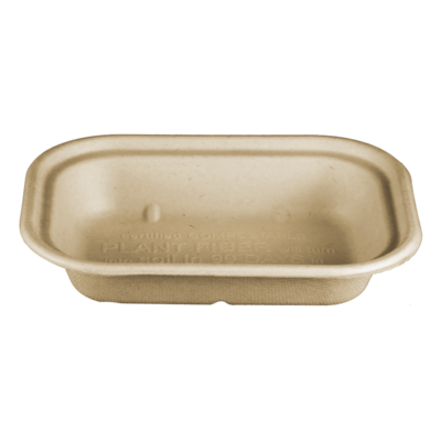 Case of 400 Units or Pack of 50 Units of Plant Fiber Trays 17 oz
