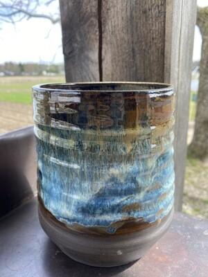 Sea Changes Ceramics | Blue/Brown Utensil Crock | item i103