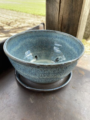 Sea Changes Ceramics |Blue Planter with Attached Base | item i148