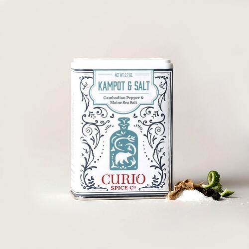 Curio Kampot & Salt - Cambodian Black Pepper & Maine Sea Salt