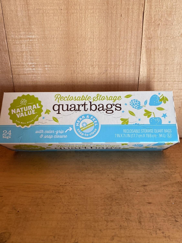 Reclosable Storage Bags | Quart | 24ct