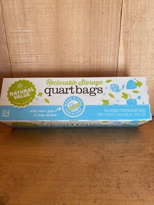 Reclosable Storage Bags | Quart | 24ct