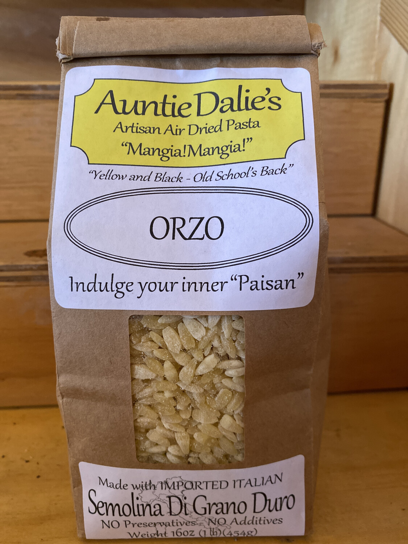 Orzo   Auntie Dahlie's Pasta