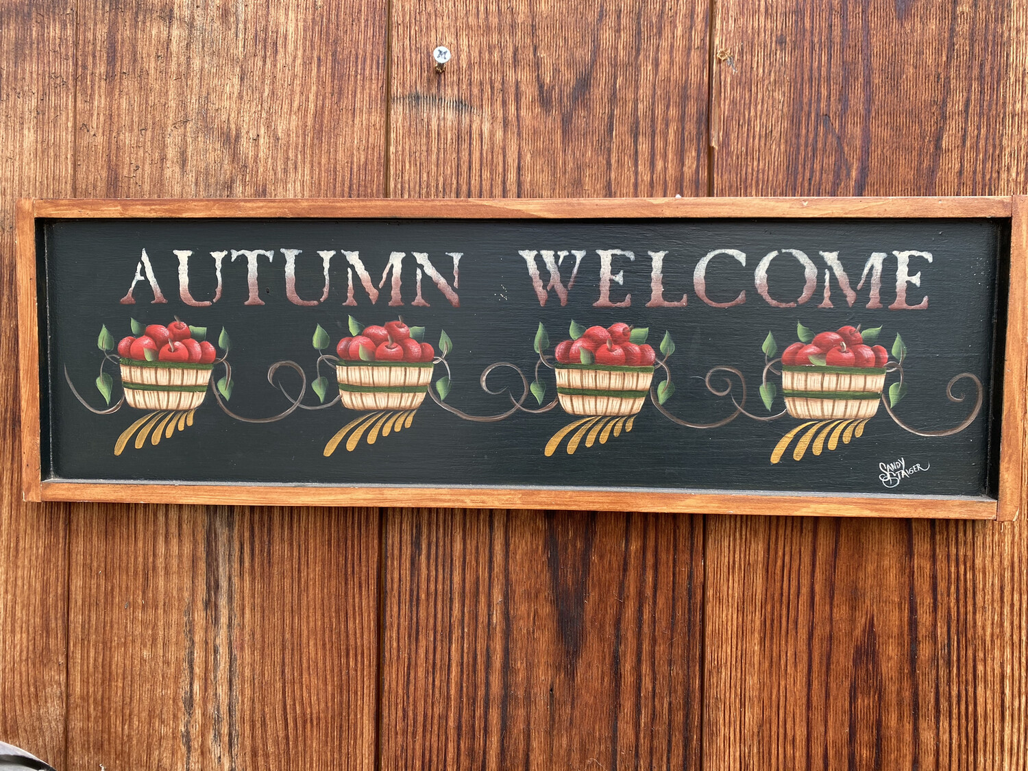 Autumn Welcome Wallhanging | Finely Finished by Sandra Staiger