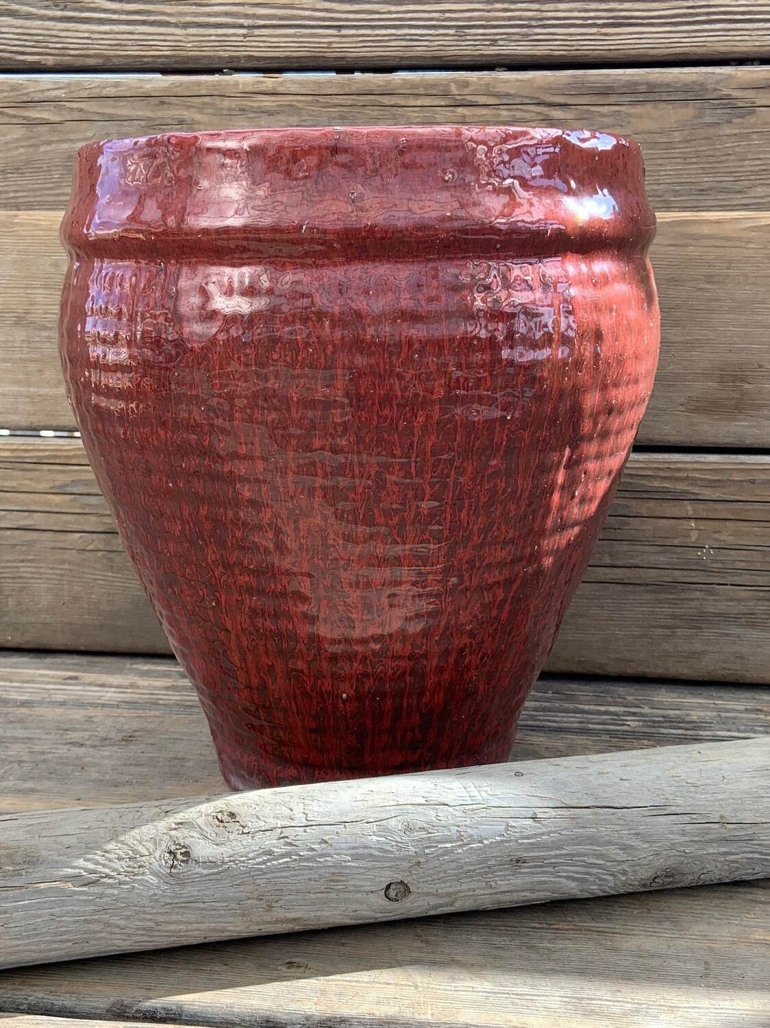 Greenhouse Pot | Textured Red Urn | 12