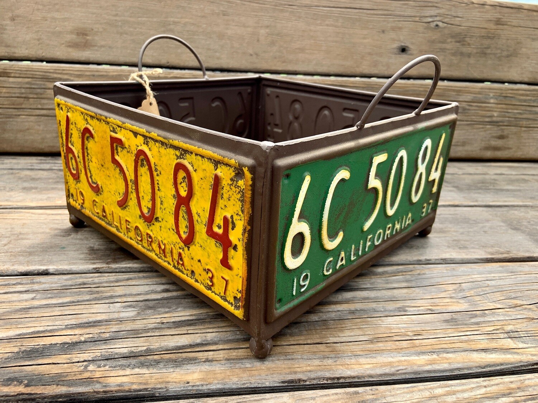 Garden Decor | Large License Plate Planter/Box