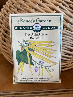 French Bush Bean Roc d'Or   Renee's Garden Seed Pack   Past Year's Seeds   Reduced Price