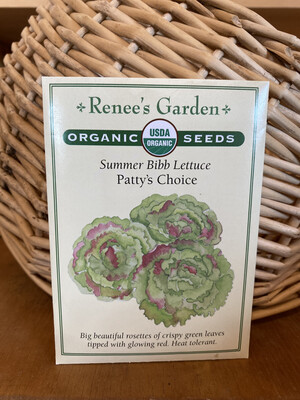 Summer Bibb Lettuce Patty's Choice   Renee's Garden Seed Pack   Past Year's Seeds   Reduced Price