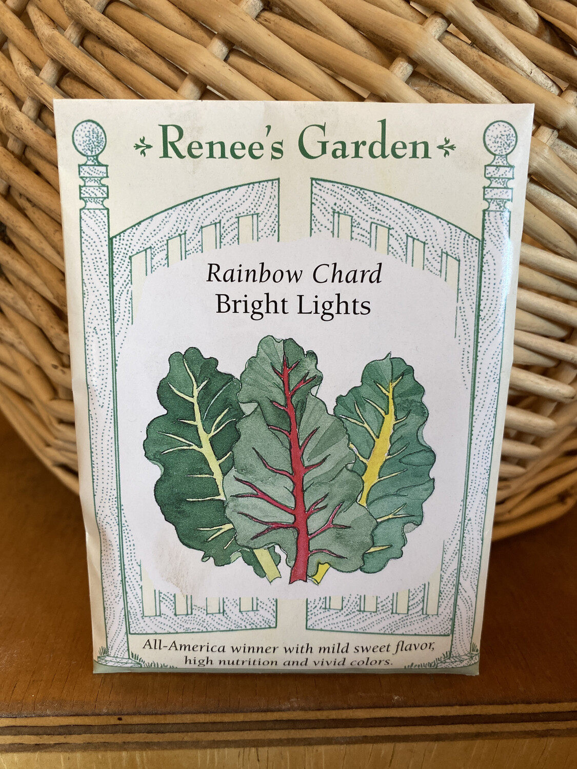Rainbow Chard Bright Lights   Renee's Garden Seed Pack   Past Year's Seeds   Reduced Price